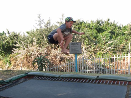 Margate, South Africa: Trampoline.