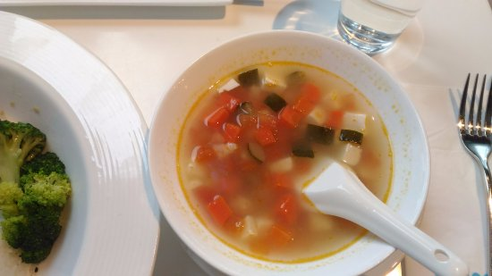Element Fresh Restaurant : Tofu soup served together with the main dish