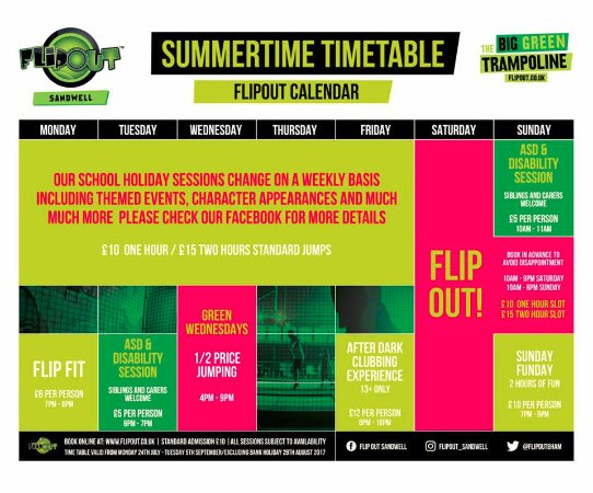 Oldbury, UK: Summer Time table 2017