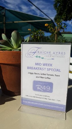 Rosebank, South Africa: Breakfast Special for R49 incl Coffee