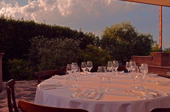 Pozzuolo, Italia: Cena in terrazza
