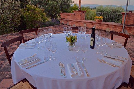 Pozzuolo, İtalya: Cena in terrazza