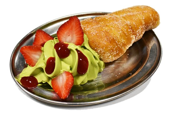 Subiaco, Australia: Matcha & strawberries Doughnut Cone