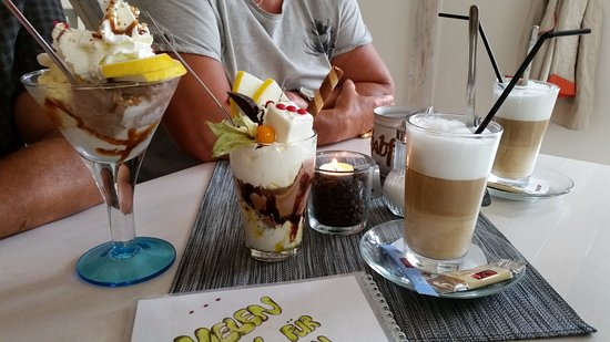 Grunhain-Beierfeld, Alemania: Kaffee und Eis