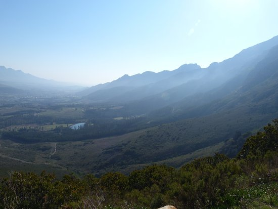 Franschhoek valley from the Franschhoek pass