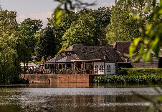 Hawkhurst, UK: A view of the cafe from the lake