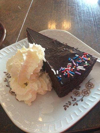 Pajala, Sverige: Cappuccino och chokladkaka