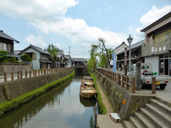 Historic Old Town area in Sawara, Katori