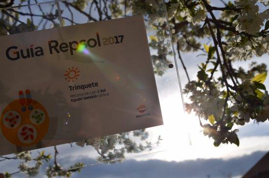 restaurante trinquete elena perez saenz: Unico restaurante en Tudela con un Sol