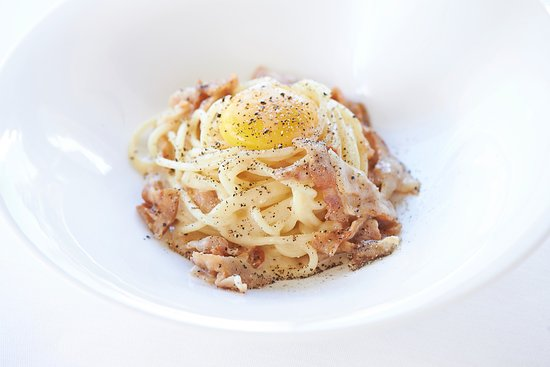 Spaghettoni Di Gragnano With Carbonara Sauce Picture Of