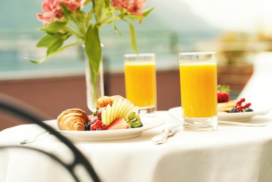 Room Service Breakfast Fresh Fruit With Croissant And