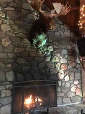 Jackson, Nueva Hampshire: Fire place with moose head