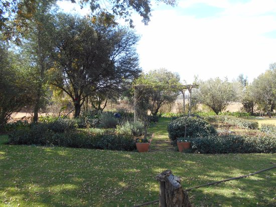 Muldersdrift, Sydafrika: View of the garden.