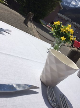 Massongex, Suisse : terrasse