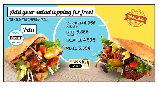 Restaurante Pita Inn en Barcelona con cocina Oriente Medio