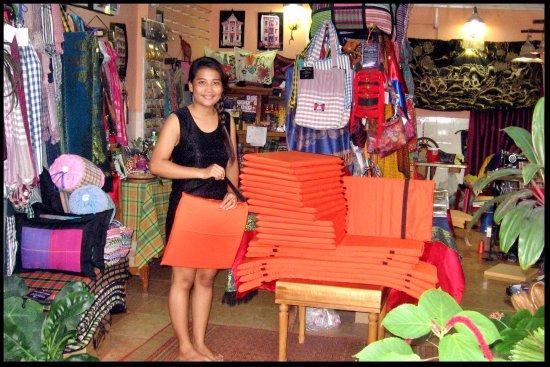 Custom made cushions at Tiny Kampot Pillows