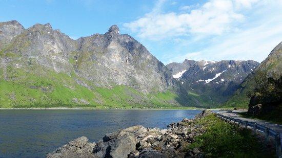 Senja, Norway: Ersfjorden sett fra sørvestsiden