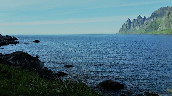 Senja, Norway: Et siste glimt av Ersfjorden før vi kjørte videre mot sør.