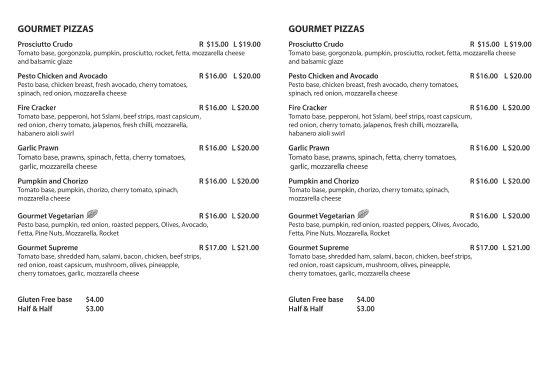 Coolum Beach, Austrália: Gourmet Pizzas
