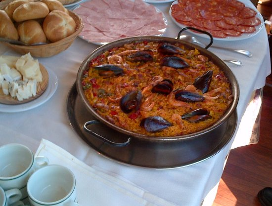 Tres Cantos, España: arooz y embutido