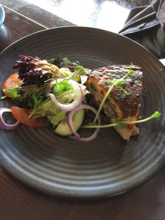 Midland, Australia: Fritata with salad