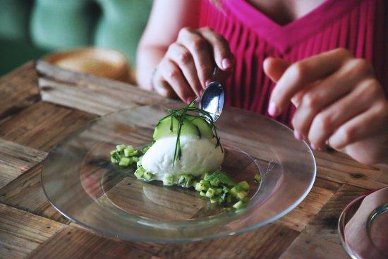 Carta postres el santo restaurante el santo - Sorbete de manzana verde ...