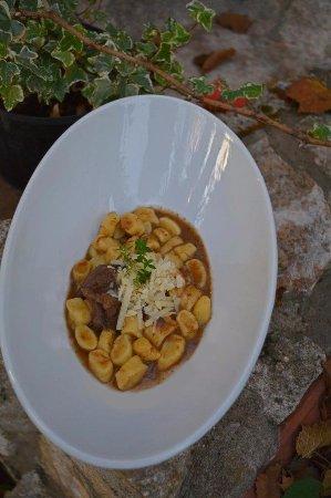Krsan, Κροατία: Home made gnocchi with game meat sauce