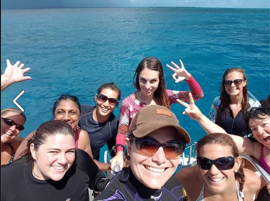 New Providence Island: Me Photo bombing another diver's Selfie;)
