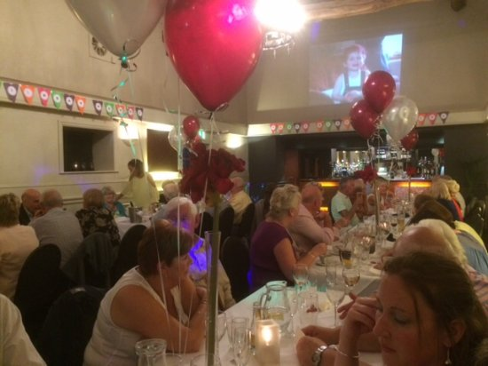 Greasby, UK: The Function Suite. 70th Birthday Party. Just finished the buffet .... ready to start dancing.