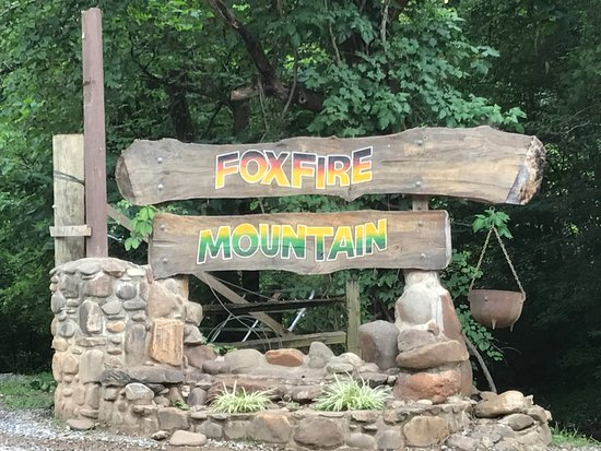 Foxfire Mountain Adventures:  Foxfire Mountain sign