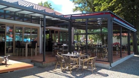 Seehaus Pilsensee: Überdachter Wintergarten, auch bei Regen das richtige für Ihre Veranstaltung oder Feier