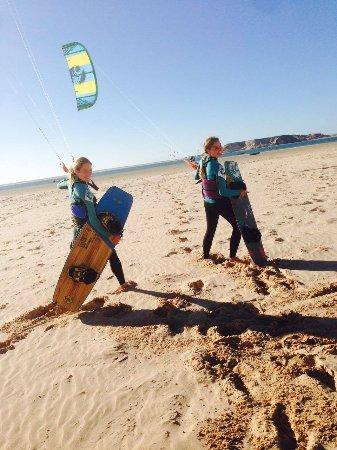 Dakhla Attitude Hotel : Kiten in der Lagune Dakhlas....ein Traum für den Kitesurfer!!!