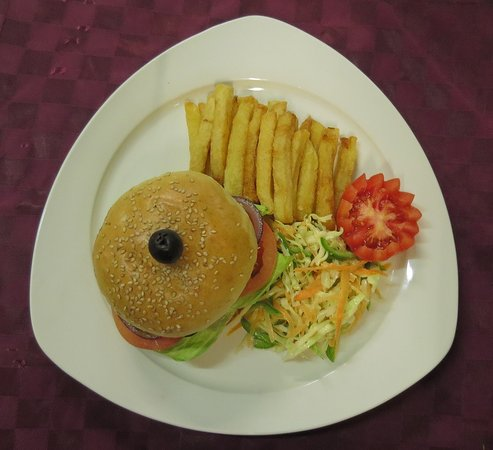 Hamburgers and any other meals are so delicious at Sentrim 680 Hotel. Try it out!