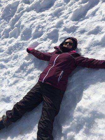 Farellones, Chile: Brincando na neve