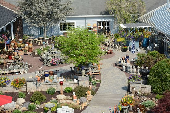 Lewisburg, PA: The Courtyard features garden statuary, bird baths, fountains, and accessories.