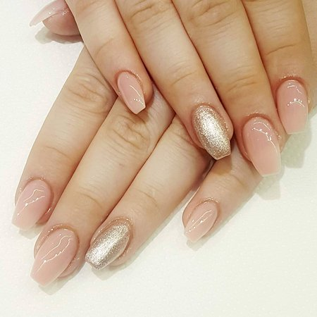 Gel nails with tips, natural look - Picture of Ariel Fish Spa ...