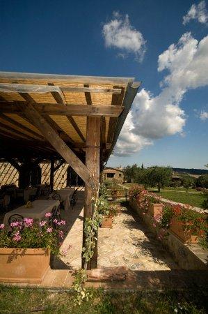 Castel San Gimignano, Itália: Veranda esterna