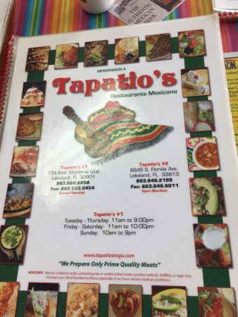 Tapatio S Restaurant Mexicano Lakeland Fl