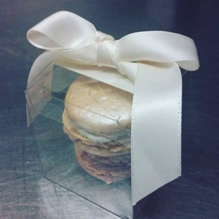 Middletown, RI: Wedding favors. Champagne macarons and Passion fruit macarons
