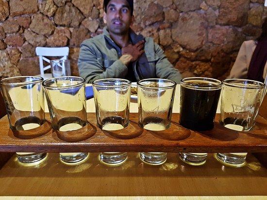 Pemberton, أستراليا: Whats left of the Beer Tasting Platter