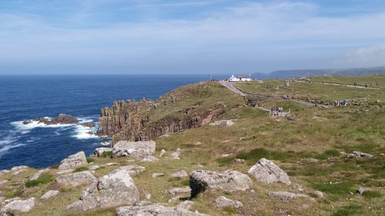 Sennen, UK: The 'First and Last House' from Land's End.