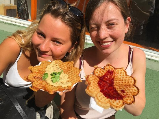 Haralds Vaffel: Vegan waffles on deck. Top choice!