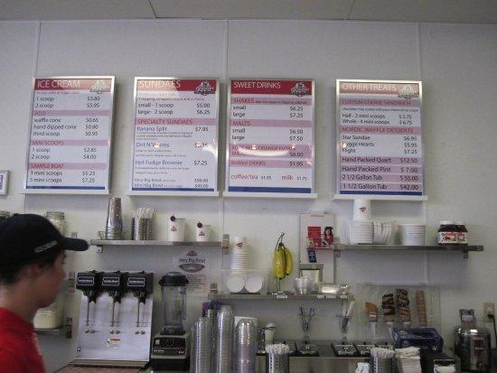 Fridley, MN: menu board