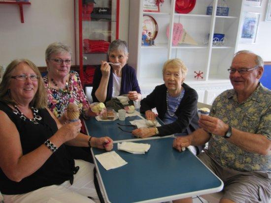Fridley, MN: Friends enjoying Ice Cream