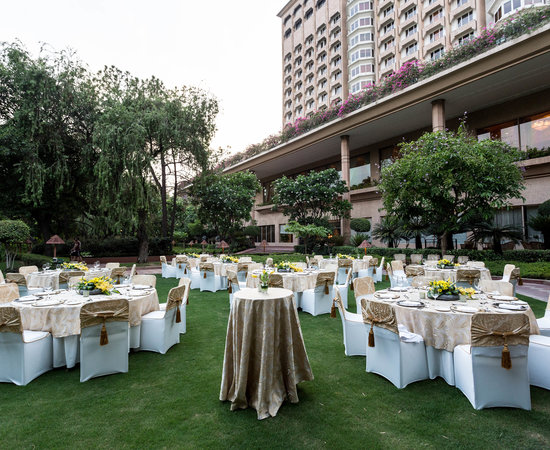 The Pool Side Lawn at the Taj Mahal Hotel