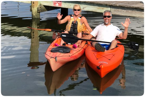 Tampa Bay SUP Stand Up Paddleboarding & Kayaking: Heather and Jeff enjoy kayaks from Tampa Bay SUP.