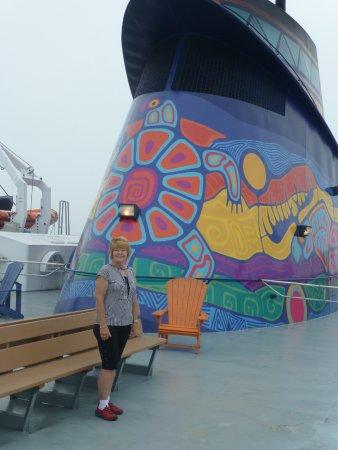 South Baymouth, Canada: me on board up top and shows comfy chairs to cruise on