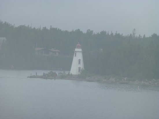South Baymouth, Canada: coming into Tobermory we could finally see a bit through fog
