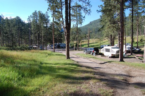 Horse Thief Campground and RV Resort: View from our campsite looking back at the campground. So pretty!