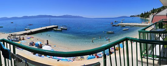 Brist, Croatia: Panoramatický pohled z balkonu pokoje č.9 v prvním patře